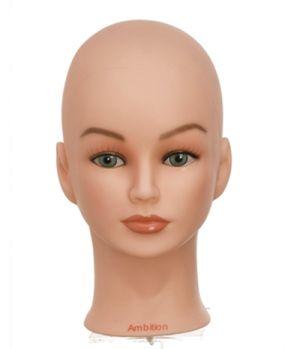 Übungskopf ohne Haare - z. B. für Haarverlängerungen