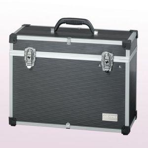 Gerätekoffer  - Friseur-Werkzeugkoffer - Aluminium, schwarz