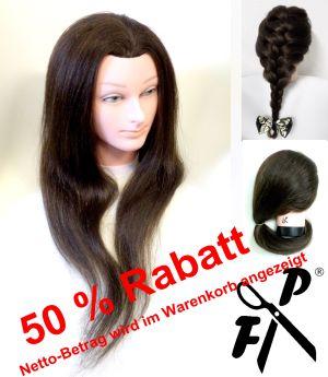 FP Frisier- u. Haarschneide-Übungskopf BEA 100 % as. Echthaar ca. 50 -55 cm