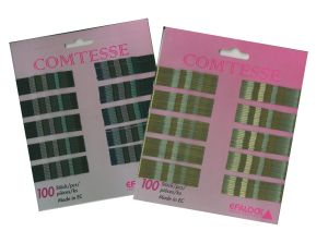 Haarklemmen Comtesse 7 cm - Farbe nach Wahl