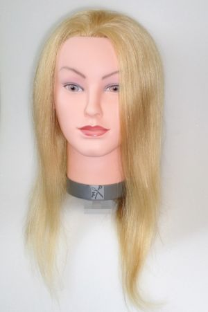 Frisier- u. Haarschneide-Übungskopf 100 % Echthaar 40 cm