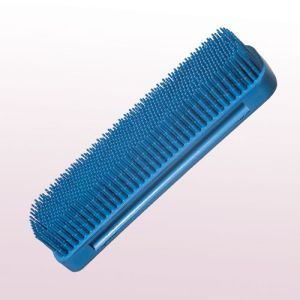 Gummi-Kleiderbürste blau - 49 x 150 mm