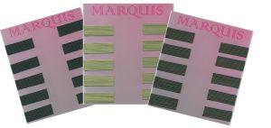 Haarklemmen MARQUIS 4 cm glatt - Farbe nach Wahl