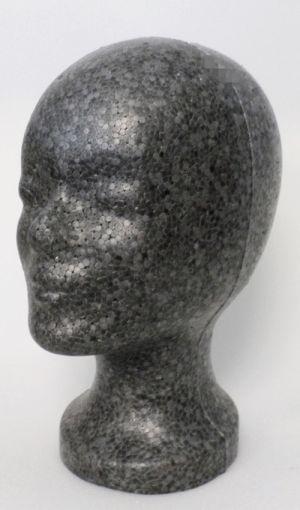 Styroporkopf, einfach - weiss (M)