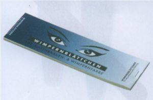 Wimpernblättchen f. Augenbrauen- u. Wimpernfarbe
